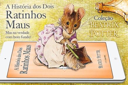 Dois ratinhos à solta numa casa de bonecas no 5.º livro da coleção BeatrixPotter
